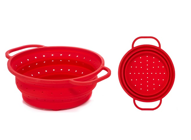 Metal Ring Reinforced Silicone Colander