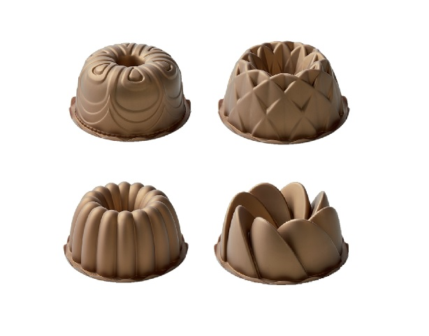 Silicone Bakeware in Metallic Color